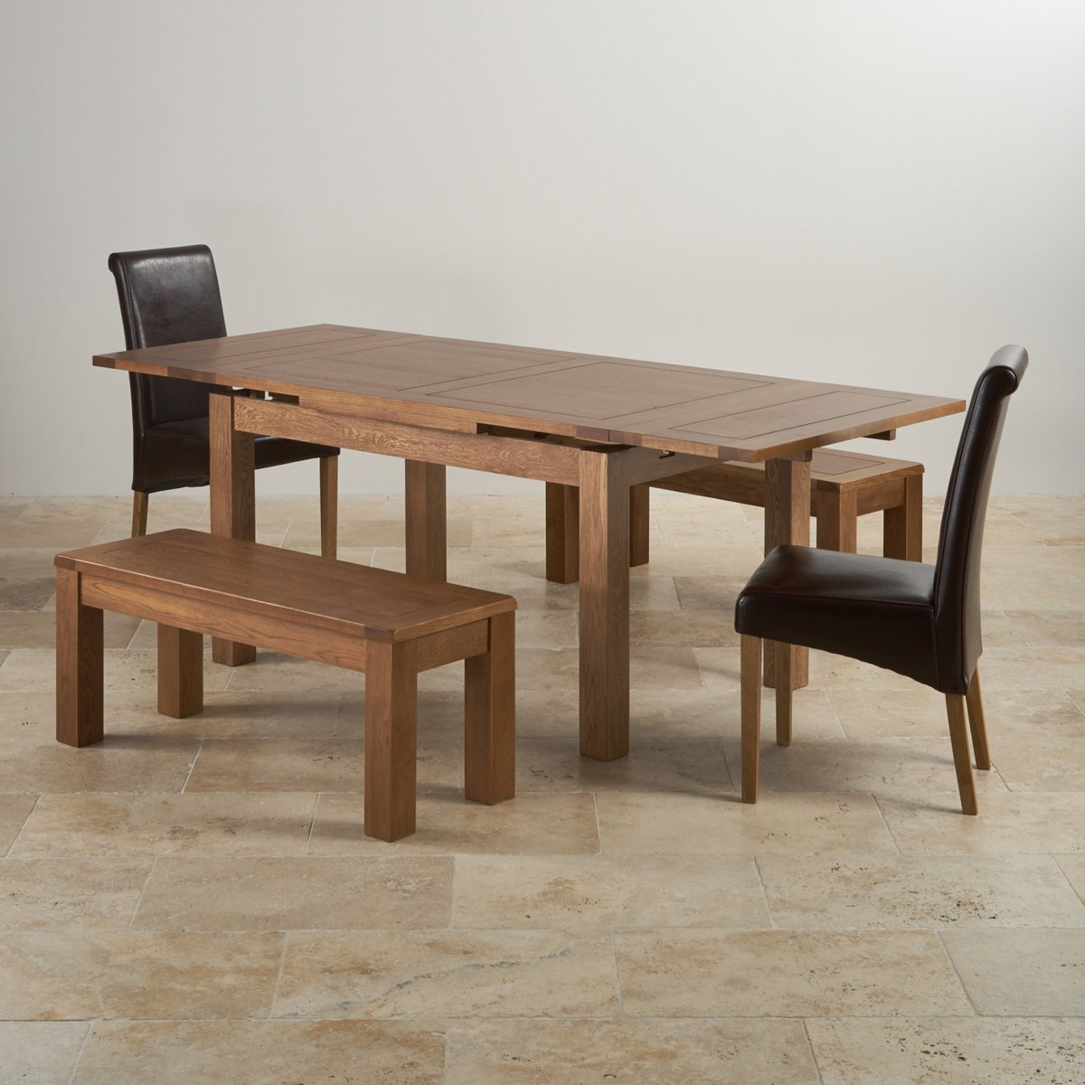 2 x 4 dining chairs futon target rustic oak set extending table 43 benches and
