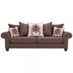 Brown And Beige Sofa Light Grey Slipcover Sandringham 4 Seater Pillow Back In 43 Cushions
