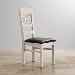 Rustic Dining Chairs Uk Wedding Chair Covers Wholesale China Shay Painted Oak In Black Leather