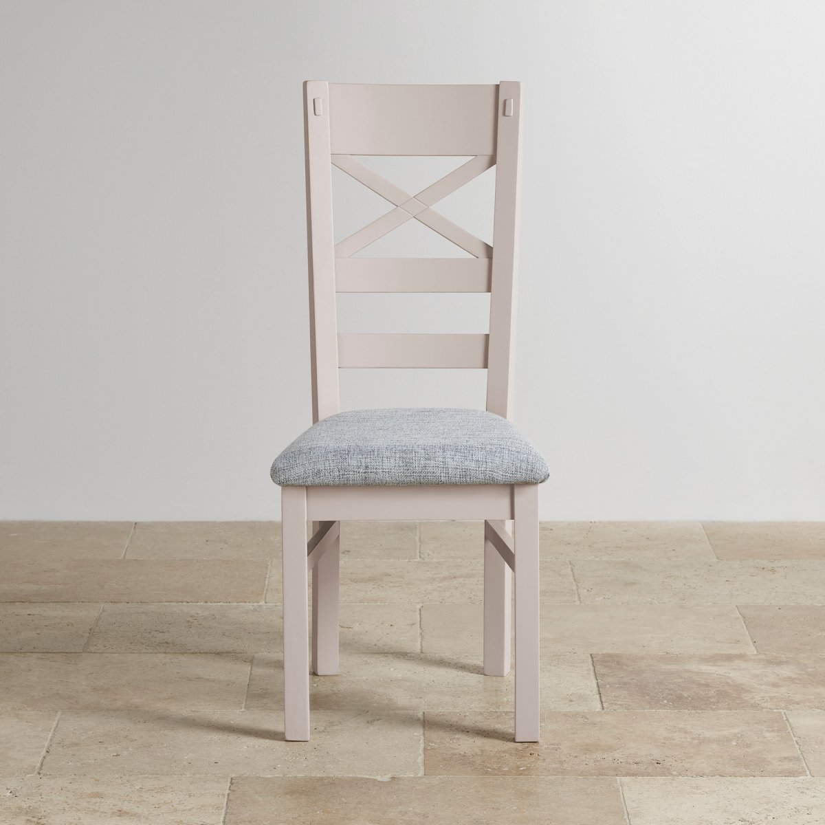 grey fabric oak dining chairs chair cover hire eastbourne shay painted rustic in plain
