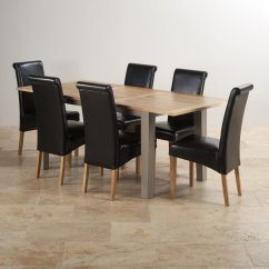 Grey Painted Chairs Diy Patio Chair Cushions St Ives Dining Set Table In Acacia 43 6 Leather