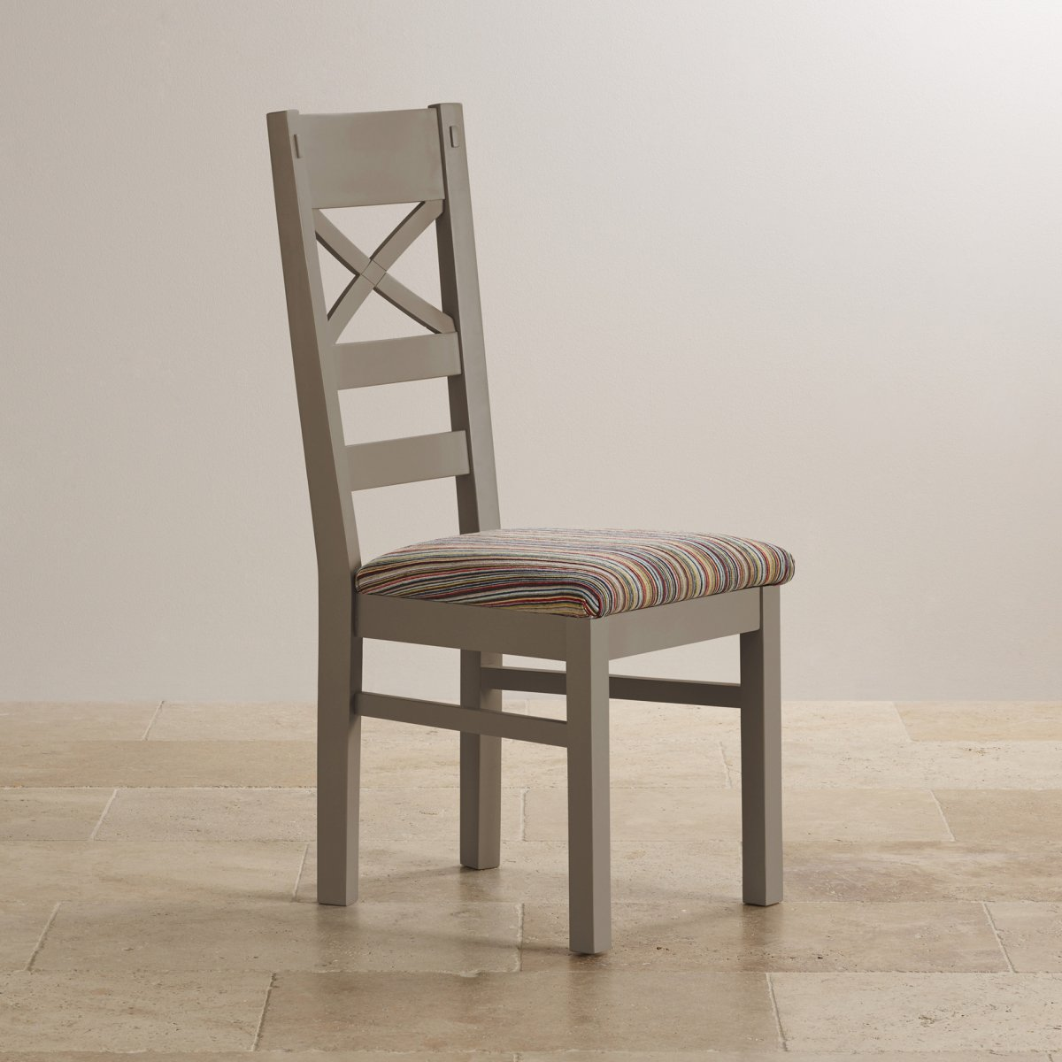 grey painted chairs white aluminum rocking chair st ives dining in acacia striped fabric