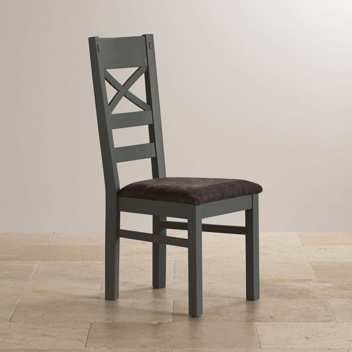 grey fabric oak dining chairs chair covers wholesale st ives natural and painted 5ft extending