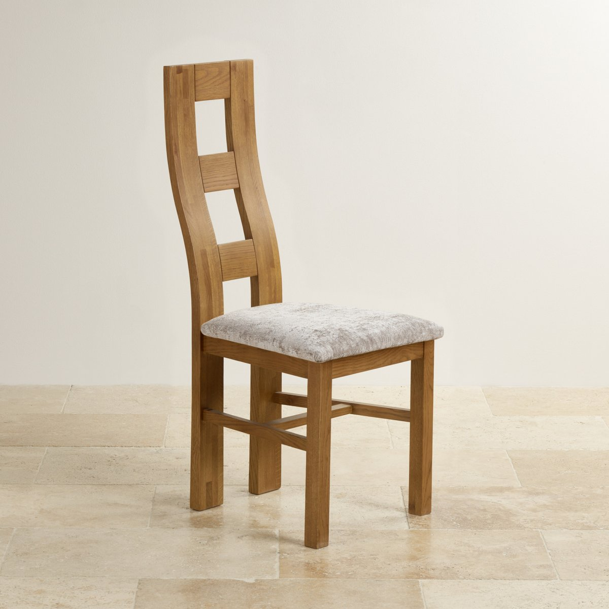 rustic dining chairs uk breakroom tables and wave back chair in oak hardwick truffle fabric