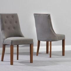 Grey Dining Chairs Diy Lawn Chair Pacific Fabric Dark Oak Leg