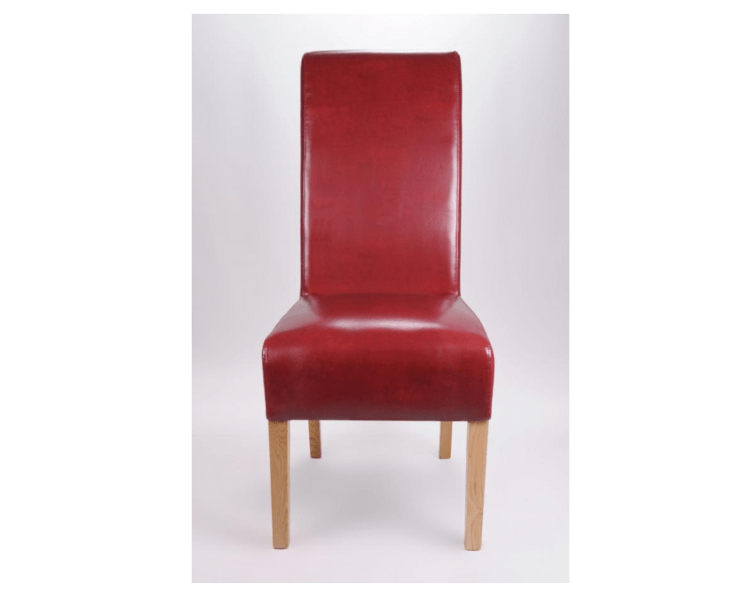 red high back chair what is the definition of a rail leather scroll dining