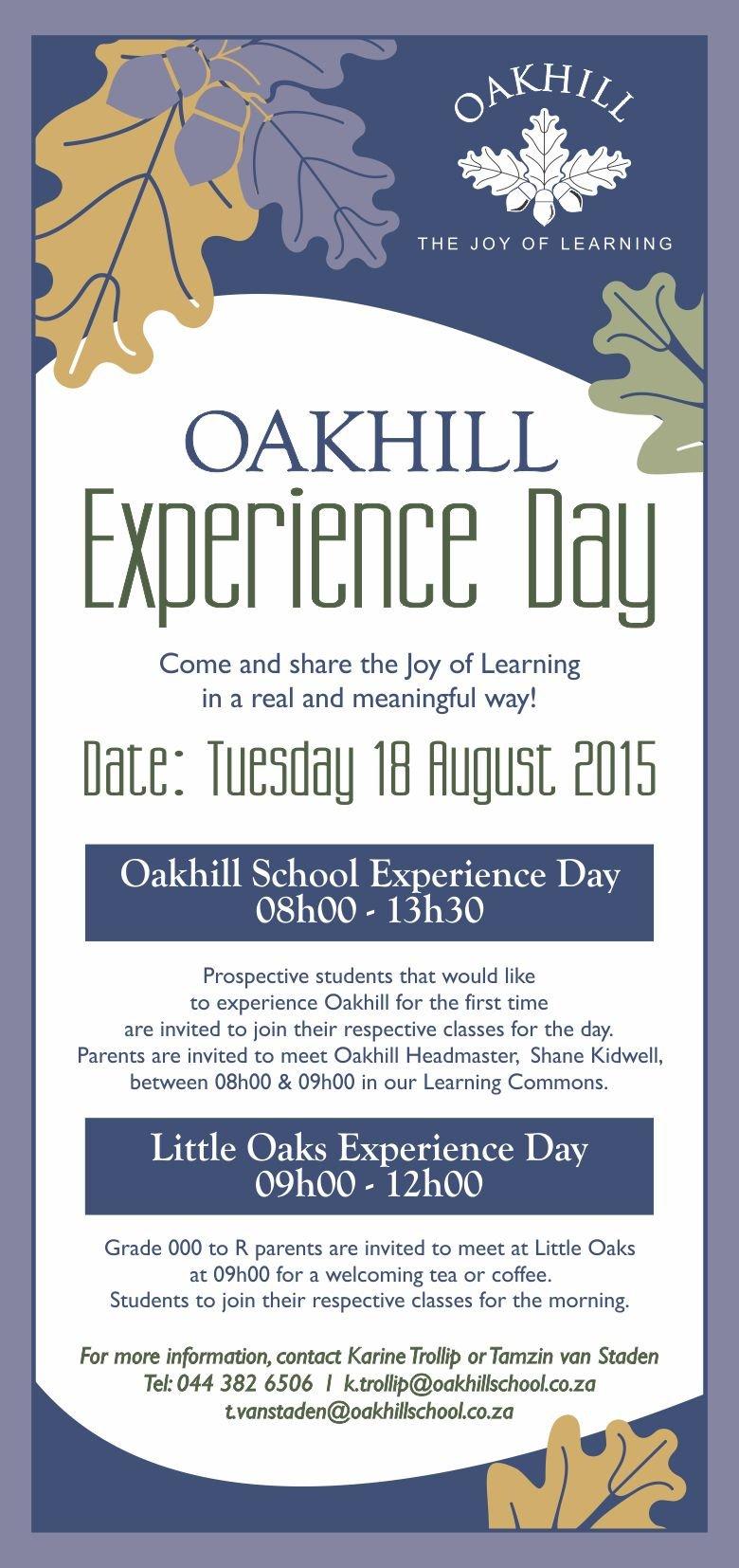 Experience-Oakhill-Invite
