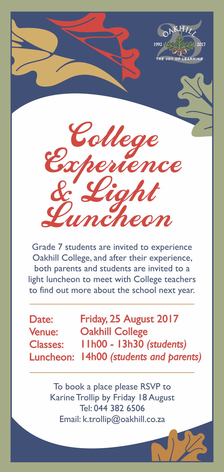 College Experience & Luncheon 2017