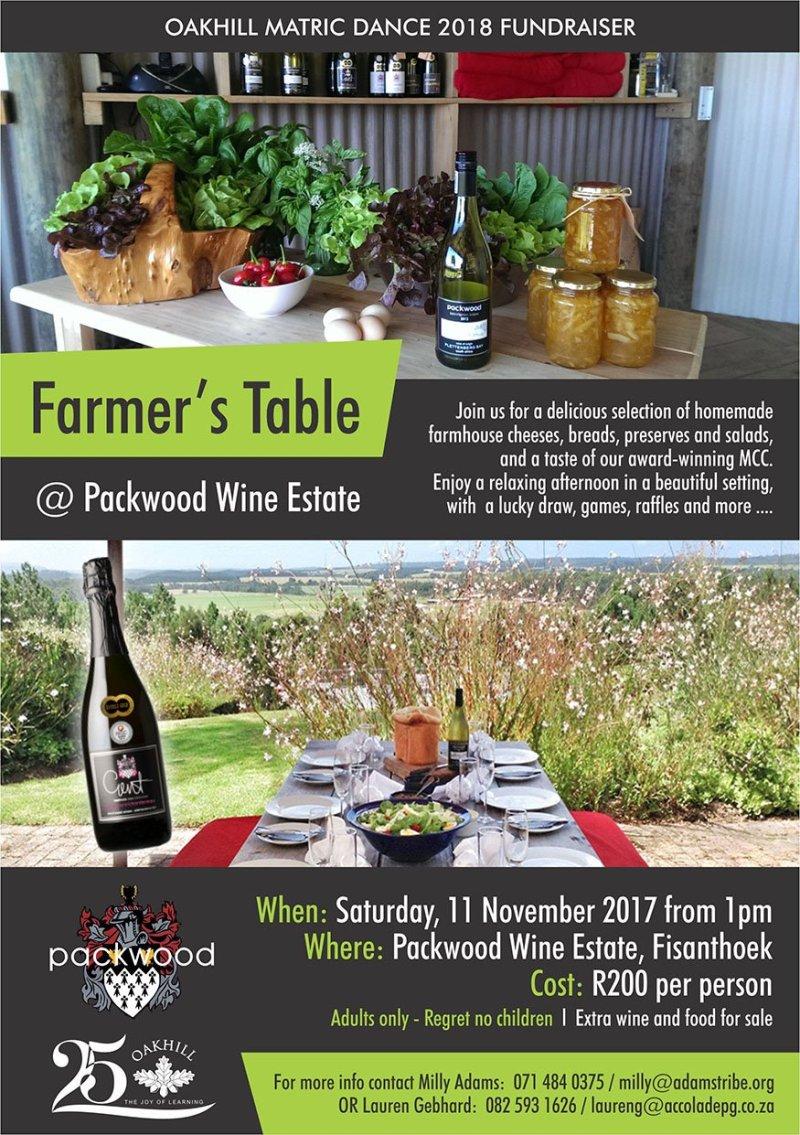 Matric Dance Fundraiser - Farmers Table