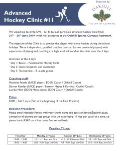 Advanced Hockey Clinic #11