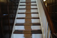 Luxury carpet with stair rods