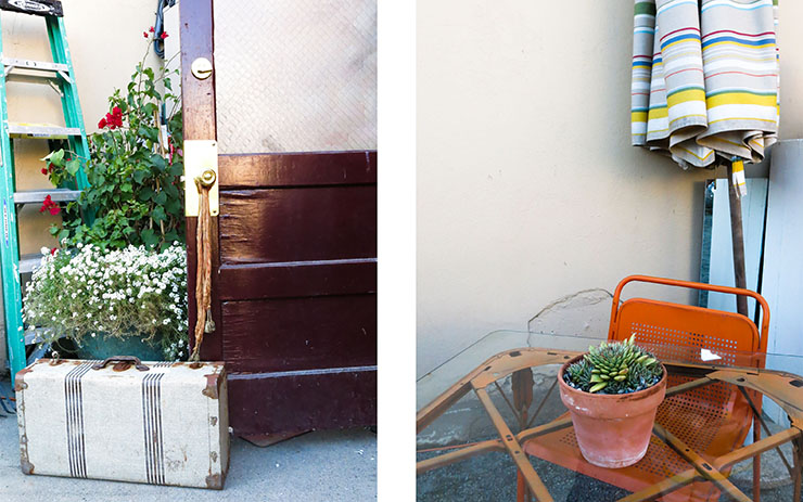 Suitcase and Chair