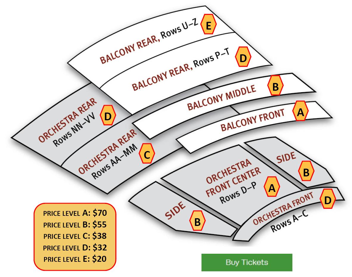 Paramount Seating Chart
