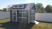 10x12 Garden Shed With Double Transom Dormer
