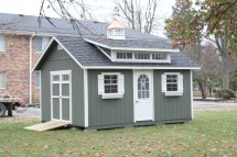 12x16 Garden Shed With Triple Transom Dormer
