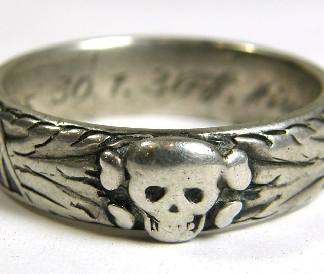 Extremely Rare Dated Ss Totenkopfring Ss Honor Ring Awarded To Ss Fuhrer Grams