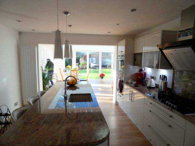kitchen table small remodels with white cabinets extensions in south england | oakley green ...