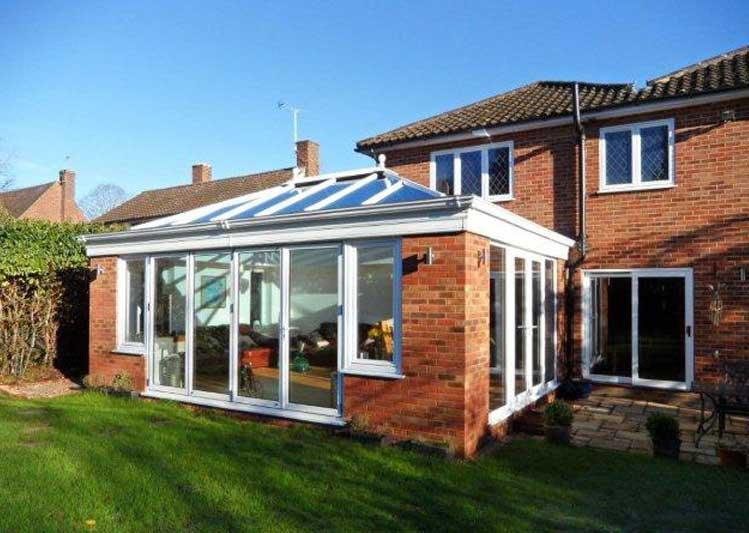 double glazed kitchen doors pot rack bespoke orangeries in south england | oakley green ...