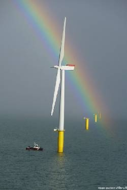 S460G2+M offshore steel used in a North Sea Wind farm