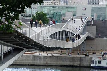 S355N and S355NL used in the Passerelle Simone-de-Beauvoir in Paris