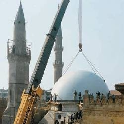 The Hussein Mosque in Cairo (Erection of the dome made of spherical segments ID 12.500 mm x 25 mm, Steel grade S355J2G3)