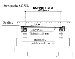 Figure 16: Bridge-building with heavy steel plates, Creux du Maz, CH