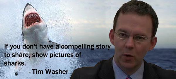 OakMonster.com - Tim Washer and sharks