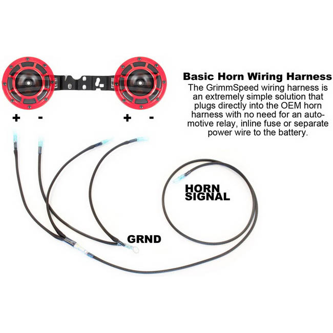 Grimmspeed Hella Horn Plug-n-Play Wiring Harness for 2015
