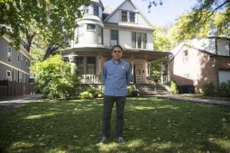 Executive director Keith Strom outside of the Ernest Hemingway Birthplace on Oak Park Avenue in Oak Park. | ALEX ROGALS/Staff Photographer