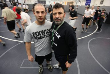 Jerry Ruffino (right) is retiring as Fenwick's head wrestling coach and turning the program over to his son Chris, who has been the assistant head coach for the last five years. J.Geil/photo editor