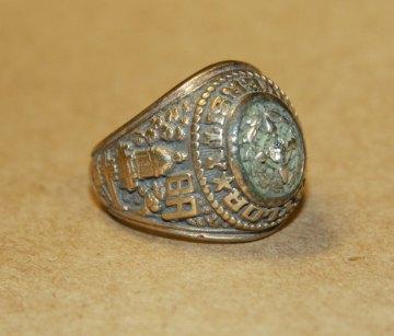 Stephen Skidmore's class ring. Courtesy OPPD