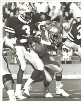 In action at Oregon State, 1987.