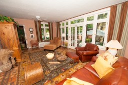 Well preserved: The family room with a view to the backyard. (Photo by Michael O'Neill)