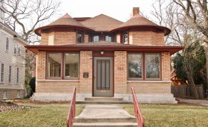 Feb. 13: The George Furbeck Home, a unique Wright design of octagonal shapes mixed with brick, wood and art glass, has been on and off the market since 2010. Photo courtesy of Gloor Realty
