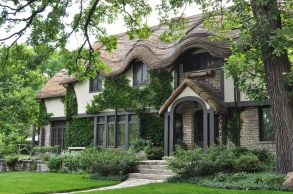 Feb. 20: (Above)With its wavy roof design that makes it look like an English cottage, the Frank Long House on Linden in Oak Park has caught the attention of many people over the years. Courtesy Lucy Toomey