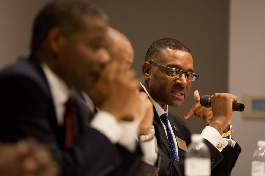 Boykin took issue with a comment Lawless made. (David Pierini/staff photographer)