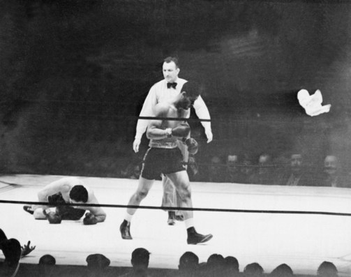 The boxing ring made history in 1936 and '38, and an opera in 2016. (Courtesy flashbak.com)