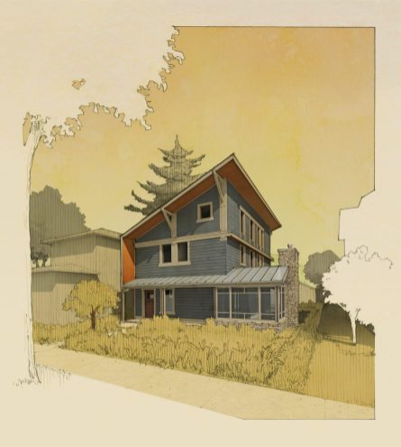 A rendering of the passive home being built on the 1100 block of Clinton. (Courtesy of Tom Bassett Dilley)