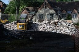 The teardown has sparked calls for protecting historic homes in the village. | WILLIAM CAMARGO/Staff Photographer