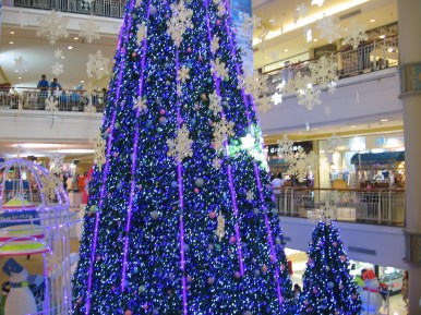Christmas tree in Chiang Mai's Airport Plaza