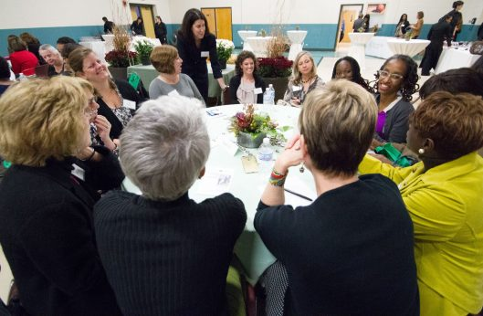 The Aspire to Inspire event, hosted by Carey Carlock, CEO of Riveredge Hospital, Wednesday Journal Media and West Side Women, brought local women business leaders together to share challenges, both professional and personal, and provide access to mentors & resources for aspiring women leaders, at Riveredge Hospital Wednesday, October 28th.   JENNIFER LACEY/Contributor