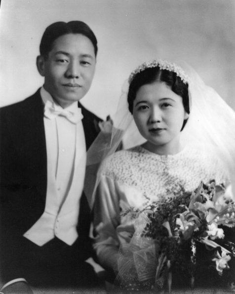 Kiyotsugu and Chie Tsuchiya on their wedding day, Dec. 7, 1936. | Courtesy Lourdes Nicholls