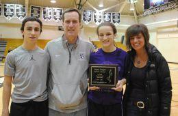 (left to right) Tommy Reardon, brother and boy's Classic League MVP class of 2014; Jim Reardon, father; Lily Reardon; Amy Reardon, mother (Courtesy Anna Dooley)