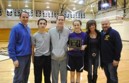 (L to R) Kevin Hanley, head coach; Tommy Reardon, brother and boy's Classic League MVP class of 2014; Jim Reardon, father; Lily Reardon; Amy Reardon, mother; Jamie Johnson, coach. (Courtesy Anna Dooley)