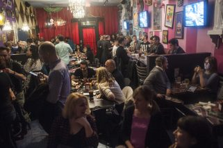 A packed house at the grand opening of Hamburger Mary's in Oak Park on Friday night. | WILLIAM CAMARGO/Staff Photographer