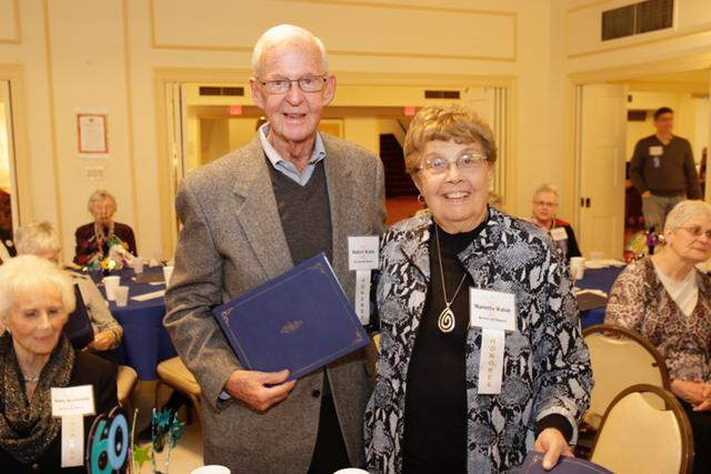 """Bob and Marietta Walsh were among nine married couples receiving """"60 Over 60"""" recognition. They owned the Logos Bookstore for 25 years in Oak Park."""
