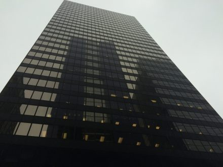 Eye in the sky: The red-light camera company SafeSpeed LLC, which has contracts with River Forest, North Riverside and Berwyn for lucrative cameras along Harlem Avenue, operates out of offices on the eighth-floor of this skyscraper at 150 N. Wacker Drive in downtown Chicago.