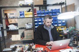Jason Huggins, founder of Tapster Robotics, Inc. | Photo by William Camargo