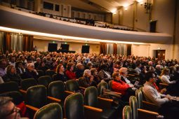 Attendees listen to Peter Sagal and Charlie Meyerson speak on Monday, Nov. 20, during the 2nd Wednesday Journal Conversations at Dominican University on Division Street in River Forest. | ALEXA ROGALS/Staff Photographer