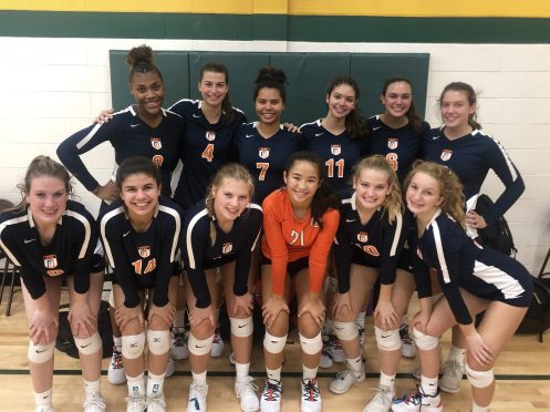 The OPRF girls volleyball team has eight key returnees and multiple college recruits on the roster.   Courtesy Kelly Collins